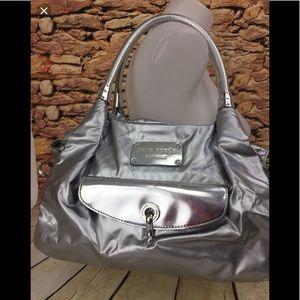 Kate Spade silver metallic handbag